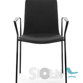 Enea - Lottus High Armchair - 4 Legs