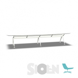 Interstuhl - Silver 893S - Boat Shaped with Cable Tray